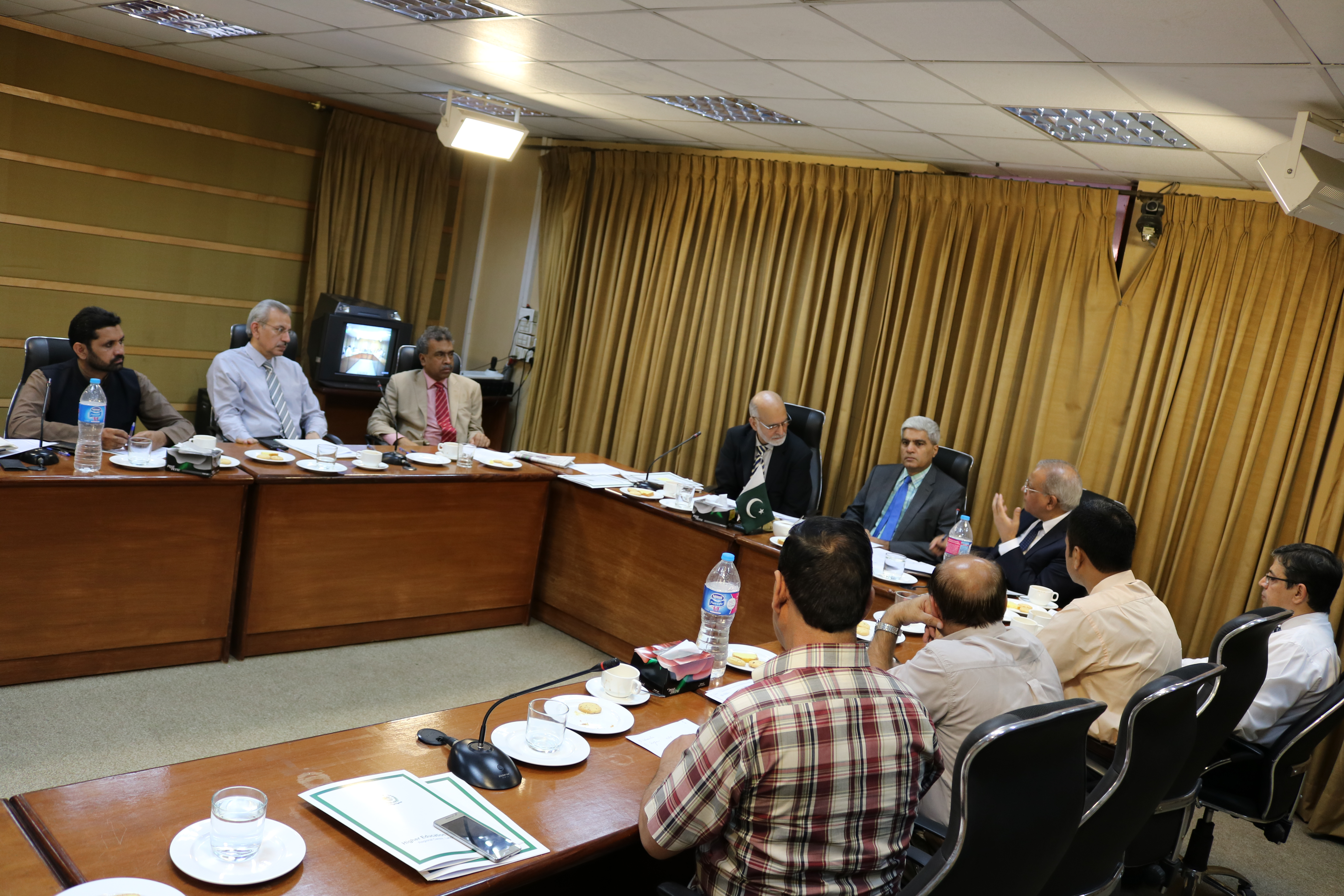 Chairperson NTC meeting with VC's at HEC Regional Office